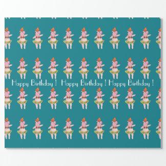 Alles Gute zum Geburtstag Hulu Schwein-Packpapier Geschenkpapier