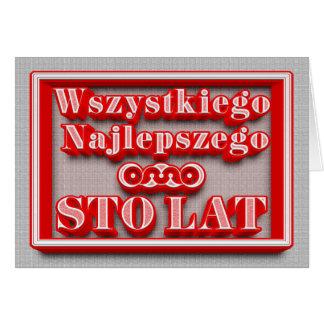 Alles Gute zum Geburtstag in der polnischen Karte