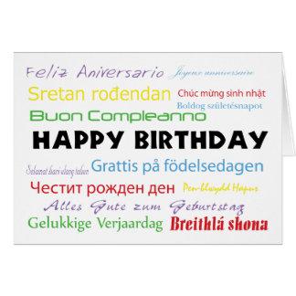 Alles Gute zum Geburtstag in der viele Sprachenkar