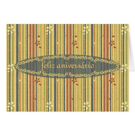 Alles Gute zum Geburtstag in portugiesisch, in den Grußkarte