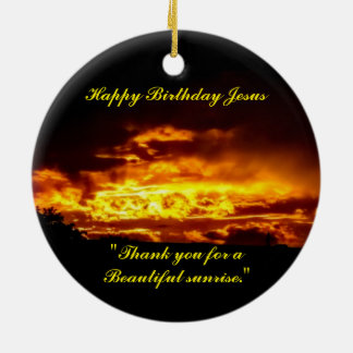 Alles Gute zum Geburtstag Jesus Keramik Ornament
