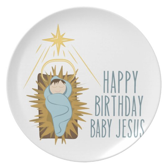 Alles Gute zum Geburtstag Jesus Melaminteller