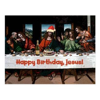 Alles Gute zum Geburtstag, Jesus! Postkarte