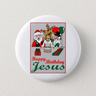 Alles Gute zum Geburtstag Jesus Runder Button 5,7 Cm