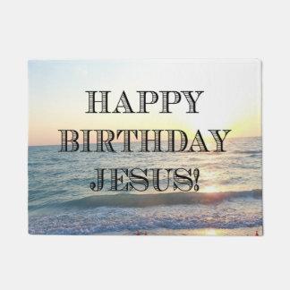 Alles Gute zum Geburtstag Jesus über dem Ozean Türmatte