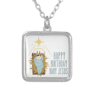 Alles Gute zum Geburtstag Jesus Versilberte Kette