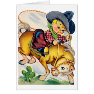 Alles Gute zum Geburtstag - junger Cowboy Grußkarte