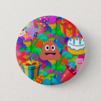 alles Gute zum Geburtstag kacken emoji Runder Button 5,1 Cm