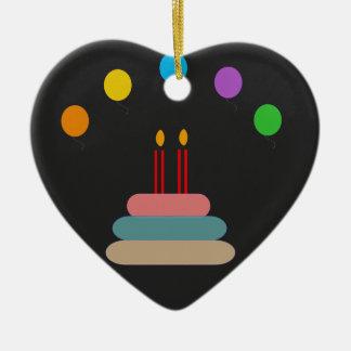 Alles Gute zum Geburtstag Keramik Herz-Ornament