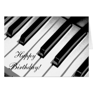 Alles Gute zum Geburtstag! Klavier-Musik-Karte