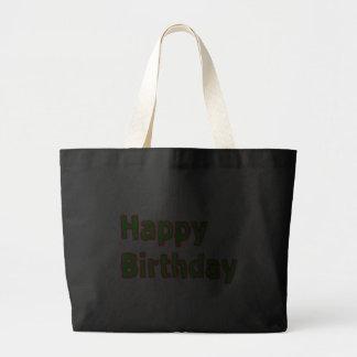 Alles Gute zum Geburtstag - künstlerisches Jumbo Stoffbeutel