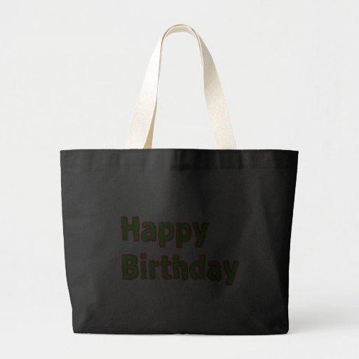 Alles Gute zum Geburtstag - künstlerisches Text-Sk Leinentasche
