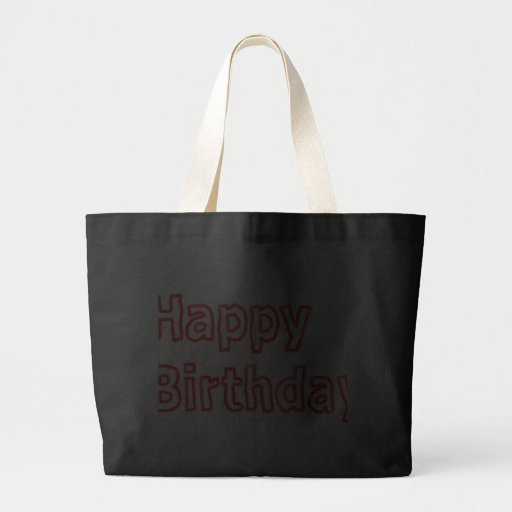 Alles Gute zum Geburtstag - künstlerisches Text-Sk Leinentaschen