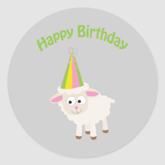 Alles Gute zum Geburtstag Lamm Runder Sticker