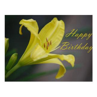 Alles Gute zum Geburtstag - Lilie Postkarte