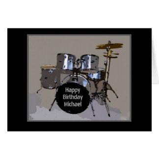 Alles Gute zum Geburtstag Michaels trommelt Karte