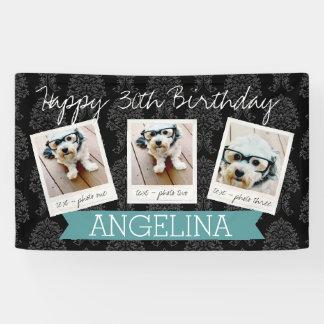 Alles Gute zum Geburtstag mit 3 Fotos - kann Banner