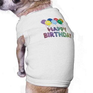 Alles Gute zum Geburtstag mit Ballon Hunde-t-shirt