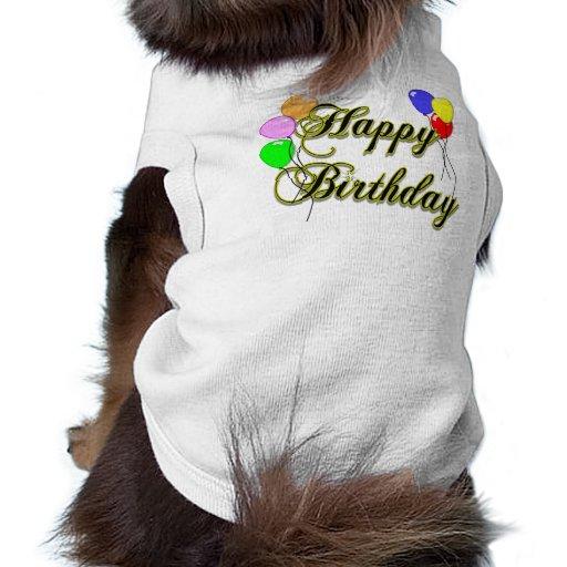 Alles Gute zum Geburtstag mit Ballonen 2 Hund T-shirts