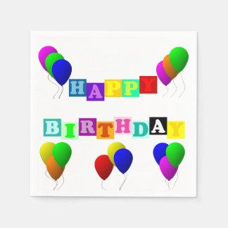 Alles Gute zum Geburtstag mit Ballonen durch Papierserviette