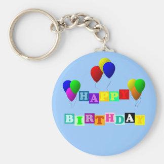 Alles Gute zum Geburtstag mit Ballonen durch Schlüsselanhänger