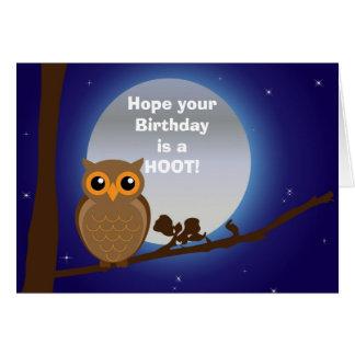 Alles Gute zum Geburtstag mit Eulengeburtstags-Spa Grußkarten