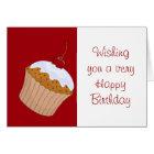 Alles Gute zum Geburtstag mit kleinem Kuchen und Karte