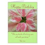 Alles Gute zum Geburtstag mit Schrifts-Vers-Karte Grußkarte
