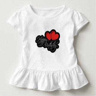 Alles Gute zum Geburtstag mit zwei roten Herzen Kleinkind T-shirt