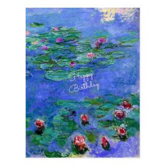 Alles Gute zum Geburtstag: Monets Wasser-Lilien Postkarte