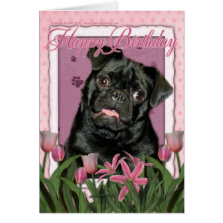 Alles Gute zum Geburtstag - Mops - Ruffy Grußkarte