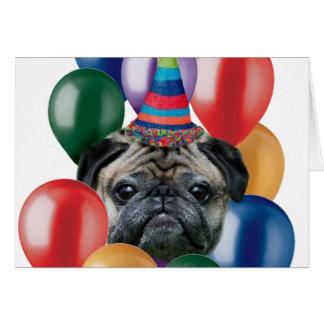 Alles Gute zum Geburtstag Mopshund Grußkarte