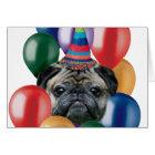 Alles Gute zum Geburtstag Mopshund Karte