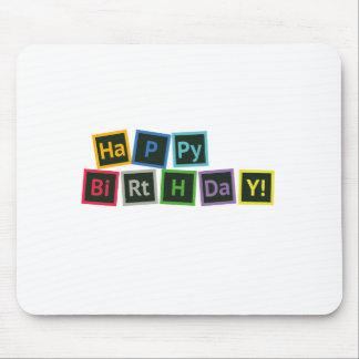 Alles Gute zum Geburtstag periodisch Mauspad