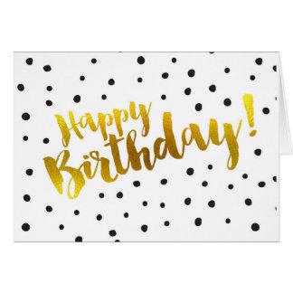 Alles Gute zum Geburtstag - punktierte Gruß-Karte Karte