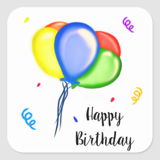 Alles Gute zum Geburtstag Quadratischer Aufkleber