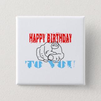 Alles Gute zum Geburtstag Quadratischer Button 5,1 Cm