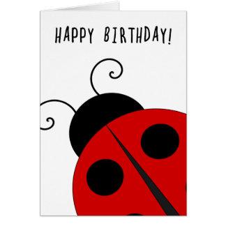 Alles Gute zum Geburtstag, riesiger Marienkäfer Karte