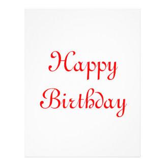 Alles Gute zum Geburtstag. Rot und Weiß. Gewohnhei 21,6 X 27,9 Cm Flyer
