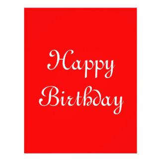 Alles Gute zum Geburtstag. Rot und Weiß. Gewohnhei Flyer
