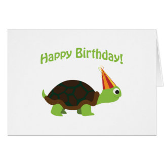 Alles Gute zum Geburtstag! Schildkröte Mitteilungskarte