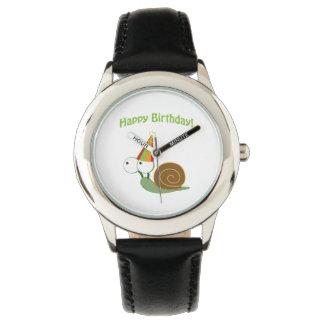 Alles Gute zum Geburtstag! Schnecke Uhr