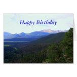 Alles Gute zum Geburtstag, sehnt sich Spitze, Colo Grußkarte