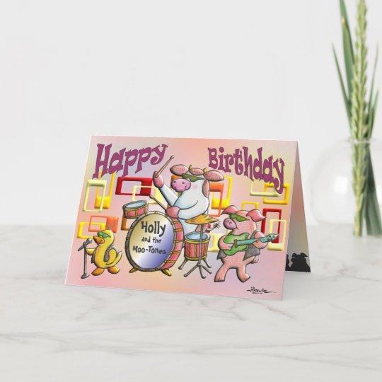 Alles Gute Zum Geburtstag Sie Schaukeln Karte Zazzle De