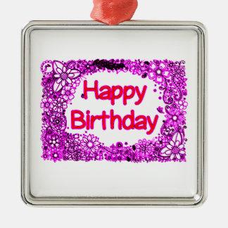 Alles Gute zum Geburtstag Silbernes Ornament