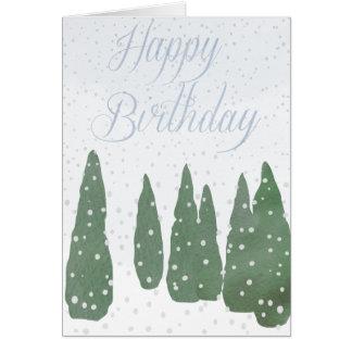 Alles Gute zum Geburtstag, Snowy-Tag Karte