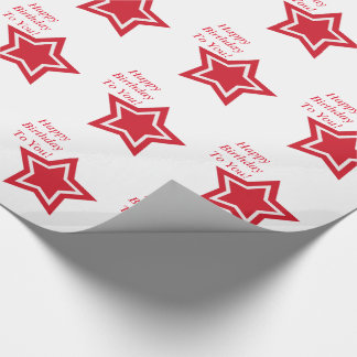 Alles Gute zum Geburtstag spielt Rot, Weiß Geschenkpapier