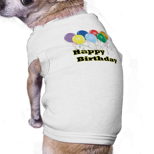 Alles Gute zum Geburtstag steigt D3 im Ballon auf Haustier Tshirt