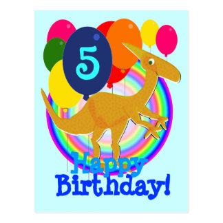 Alles Gute zum Geburtstag steigt die 5 Postkarte