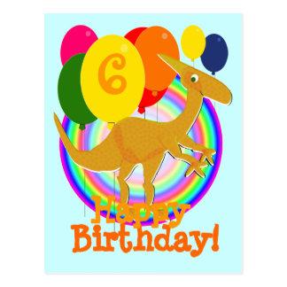 Alles Gute zum Geburtstag steigt die 6 Postkarte